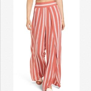 New BAND OF GYPSIES Stripe Wide Walk Through Pant